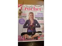 Back issues of Simply Crochet magazine