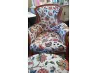 Beautiful VICTORIAN chair recovered