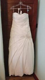 Ivory wedding dress, Size 12, sweetheart front, corset back