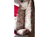 3 seat Floral sofa