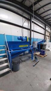 Heavy Duty Soil Breaker/Wood Shredder unit with VFD, Auger and controls