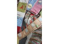 cot matress from mother care with bumpers and sheets blankets