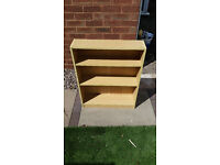 Bookshelf (Pine) (DVD Books CDs) (Half Size) Bookcase Storage Shelves / Shelf / Adjustable Shelving