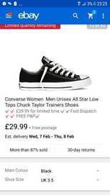 Womens size 3 converse brand new