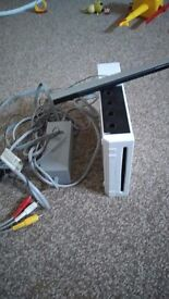 Wii console just console wires and sensor