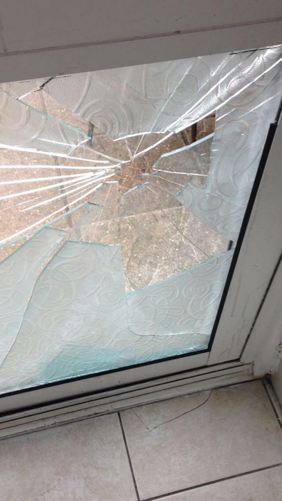 Broken Tractor Windshield : Broken glass door repair double glazing