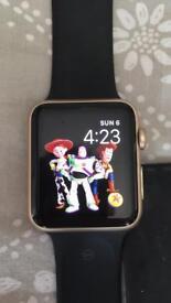 Gold 42mm aluminium Apple watch