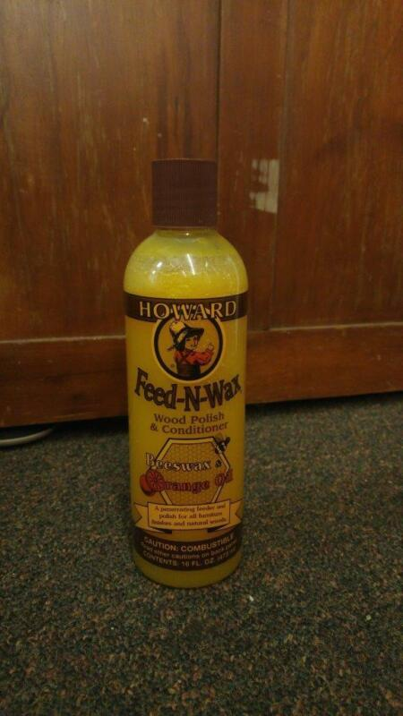 New Howard Feed-N-Wax Beeswax & Orange Oil Wood polish & Conditioner 16oz