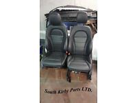Mercedes W205 Center Console Full Leather Interior, Car Seats, Door Cards,