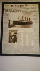 Titanic news article picture