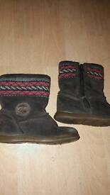 Clarks girls boots size 6.5f