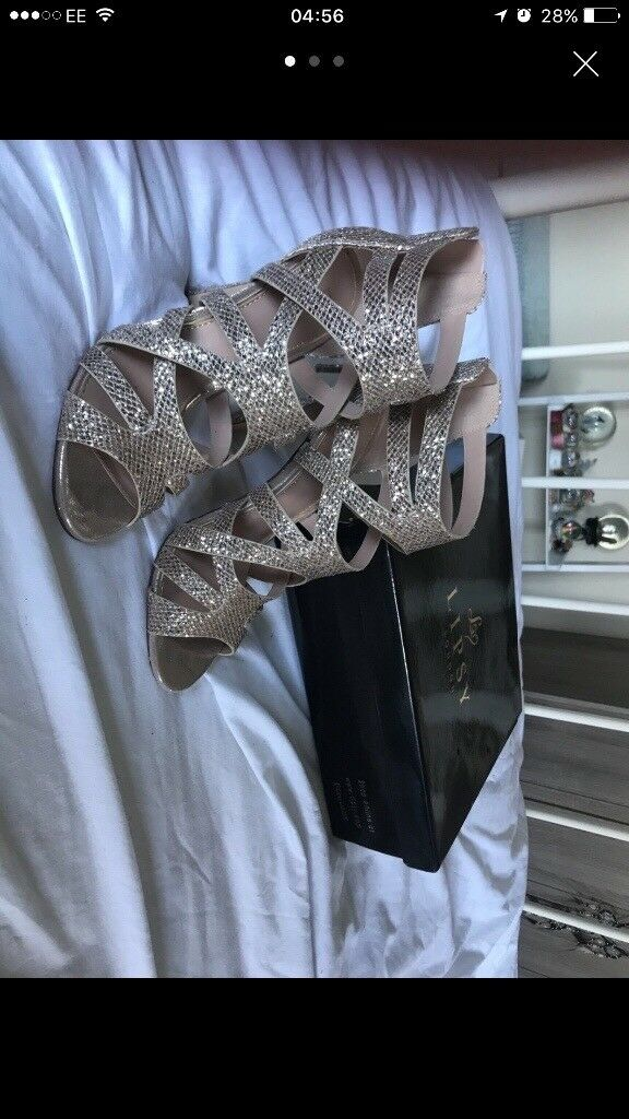 Lipsy gold high heels