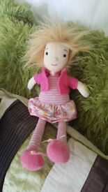 JELLYCAT BELLE DAISY SOFT TOY DOLL 12""