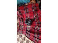 Boys Scottish Royal Stewart Tartan Kilt Outfit Set With Kilt and Shirt andBlazer