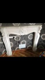 Plaster fire place surround