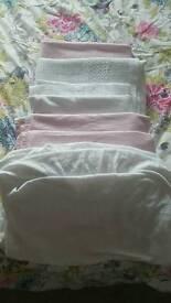 Bundle of cot bedding