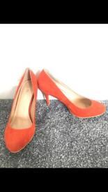 Brand new orange heels size 7