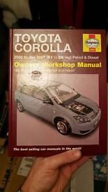 Toyota corolla 2002-2007 Haynes Manual
