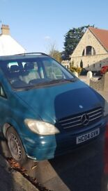 Mercedes Viano 6 seater people carrier at very sensible price (some small repairs required)