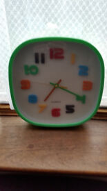 Rare coloured clock with green edges