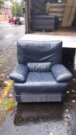 Soft leather swivel lazyboy recliner armchair
