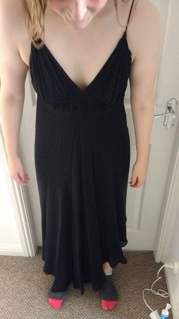 Black ladies cocktail dress size 14 (designer but no label)