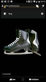 I skate figure skates