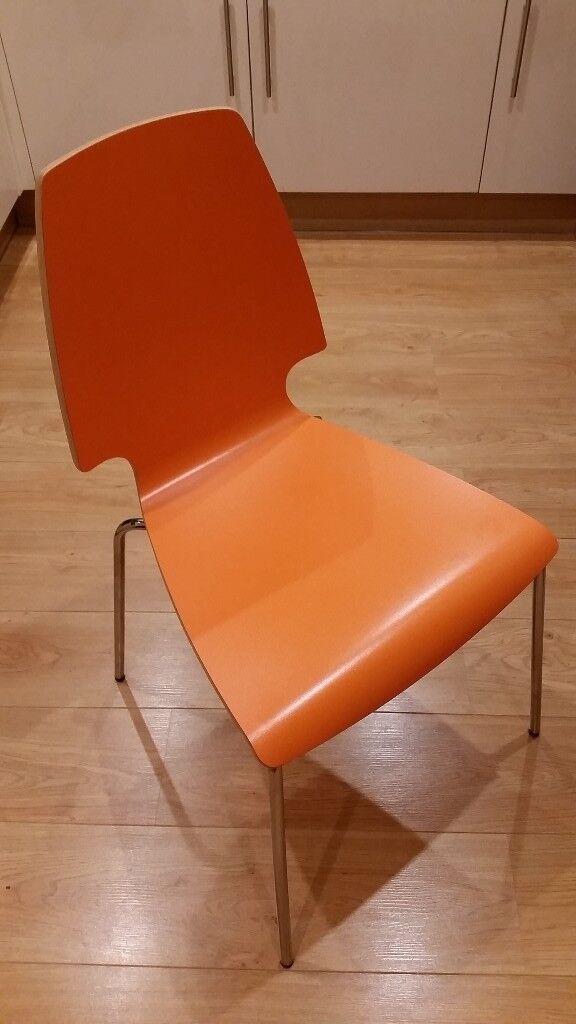 Ikea Chair Orange X1 Vilmar