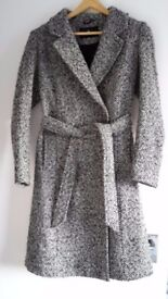 Designer grey wool coat from Style Butler size UK8/36