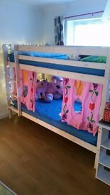Bunk Bed (Wooden) with Trundle Excellent Condition with 2 single Mattresses & Only £195 Bargain!