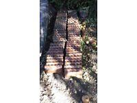 Approx 107 Victorian salt glazed rope edging tiles