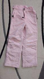 Girls Pale Pink Salopettes
