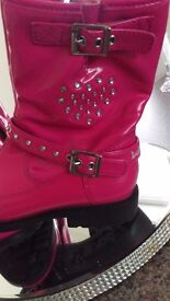 Girls pink lelli kelly size 1 boots