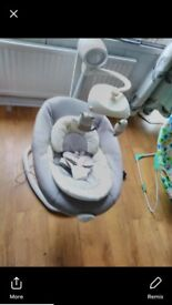 Baby clearance new car seat, swing, play Matt and bouncer