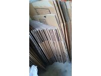 Triple walled moving boxes (Medium and Large - total of 40) + 3 hanging wardrobe boxes