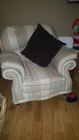 Price reduction laura Ashley three seater sofa two armchairs and footstool