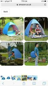 Family Beach Tent and Sun Shelter for 2 or 3 Person - Blue £15