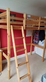 Great condition kids short high sleeper bed