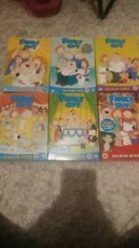 Family guy box sets 1-5 + 7