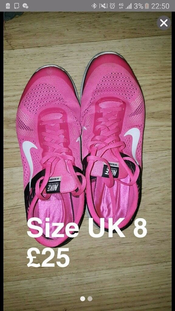 Pink nike as new trainers size 8