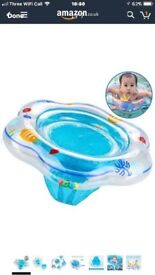 Baby Swimming Ring, Inflatable Baby Pool Swimming Float with Seat Ideal for Kids Paddling Pool,