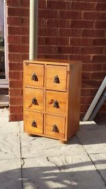 Quality solid wood drawer cabinet