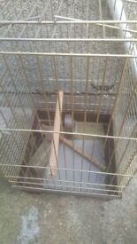 Gold solid metal bird cage in great condition