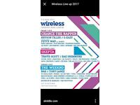 Wireless Festival ticket for Sunday 9th July
