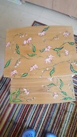 Coffee tables one of kind hand paited floral nest of 2 coffee tables