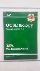 New Grade 9-1 GCSE Biology: AQA Revision Guide with Online Edition Excellent Condition