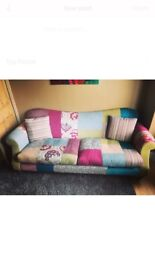 DFS 4 Seater Patchwork Sofa