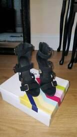 OFFICE black heels for sale size 5
