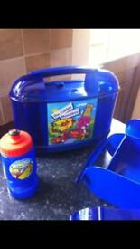 2 Childrens Lunch Boxes - (Water Bottles Are Also Included)