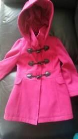 Beautiful girls Fuchsia pink coat age 4-5